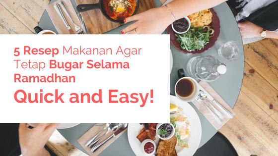 5 Resep Makanan Ramadhan Yang Perlu Anda Coba Klenandkind Com